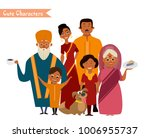 big happy indian family in... | Shutterstock .eps vector #1006955737