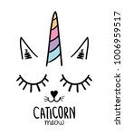 cat unicorn   textile graphic t ... | Shutterstock .eps vector #1006959517