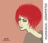 art sketched portrait of ... | Shutterstock .eps vector #1006959763
