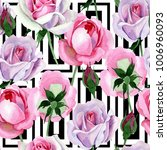 wildflower tender pink rose... | Shutterstock . vector #1006960093