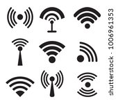 different black vector wireless ... | Shutterstock .eps vector #1006961353