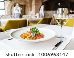 pasta with anchovy | Shutterstock . vector #1006963147
