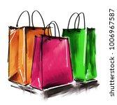 art digital acrylic and... | Shutterstock . vector #1006967587