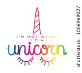 unicorn calligraphy and horn in ...   Shutterstock .eps vector #1006969027