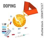 doping drugs anti agitative... | Shutterstock .eps vector #1006971217