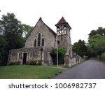 medieval church in rural sussex ... | Shutterstock . vector #1006982737