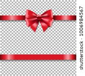 red ribbon isolated  | Shutterstock . vector #1006984567