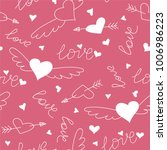 hand drawn doodle love seamless ... | Shutterstock .eps vector #1006986223