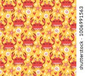 vector seamless pattern with... | Shutterstock .eps vector #1006991563