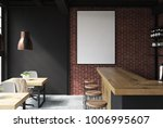 brick and black loft bar... | Shutterstock . vector #1006995607