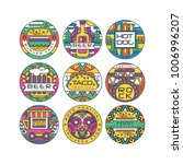 food festival logo set  burger... | Shutterstock .eps vector #1006996207
