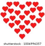 one big heart of many small... | Shutterstock .eps vector #1006996357