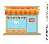 mini market shop booth facade... | Shutterstock .eps vector #1007006617