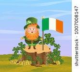 leprechaun in a green hat... | Shutterstock .eps vector #1007008147
