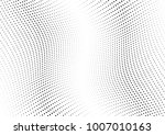 abstract halftone wave dotted... | Shutterstock .eps vector #1007010163