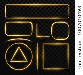 golden glowing frames with...   Shutterstock .eps vector #1007010493