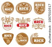 paddy grain organic rice labels.... | Shutterstock .eps vector #1007010517