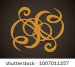 old cute romantic book ribbon... | Shutterstock .eps vector #1007011357