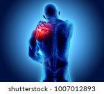 3d illustration  shoulder... | Shutterstock . vector #1007012893