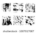 black paint  vector ink brush... | Shutterstock .eps vector #1007017087