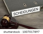 a gavel and a folder with the