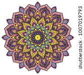 mandala. ethnic decorative... | Shutterstock .eps vector #1007019793