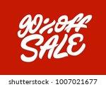 90   off sale. premium handmade ... | Shutterstock .eps vector #1007021677