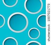 seamless round pattern. circle... | Shutterstock .eps vector #1007021773