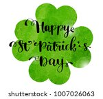 st. patrick's day greeting card ... | Shutterstock .eps vector #1007026063