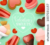 valentine s day background with ... | Shutterstock .eps vector #1007031157