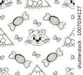 cartoon seamless pattern.... | Shutterstock .eps vector #1007034127