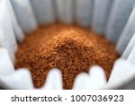 close up of pour over coffee in ... | Shutterstock . vector #1007036923