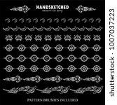 vector set of pattern brushes... | Shutterstock .eps vector #1007037223