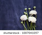 white ranunculus bouquet on... | Shutterstock . vector #1007041057