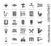 plumbing service vector flat... | Shutterstock .eps vector #1007045857