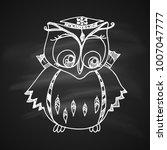 chalk drawing illustration for... | Shutterstock .eps vector #1007047777