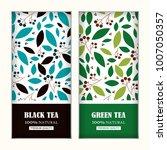 set of vector arts for tea... | Shutterstock .eps vector #1007050357