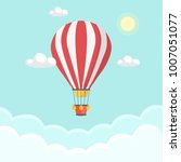hot air balloon in the sky with ... | Shutterstock .eps vector #1007051077
