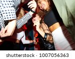 low angle view at crowd of... | Shutterstock . vector #1007056363