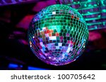 Disco ball light reflection background - stock photo