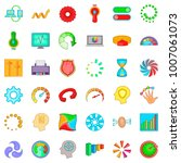 indication icons set. cartoon... | Shutterstock .eps vector #1007061073
