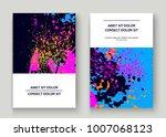 neon explosion paint splatter... | Shutterstock .eps vector #1007068123