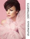 fashion beautiful woman in... | Shutterstock . vector #1007068573