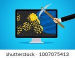 concept of cryptocurrency.... | Shutterstock .eps vector #1007075413
