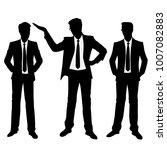 vector silhouettes of men ... | Shutterstock .eps vector #1007082883