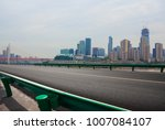 empty road surface floor with... | Shutterstock . vector #1007084107