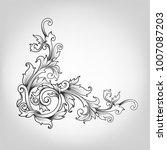 vintage baroque victorian frame ... | Shutterstock .eps vector #1007087203