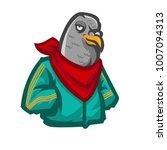 funny animal bird cartoon... | Shutterstock .eps vector #1007094313