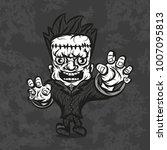 cartoon monster zombie... | Shutterstock .eps vector #1007095813