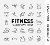 fitness and healthy lifestyle... | Shutterstock .eps vector #1007099257